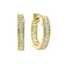Diamond Slim Hoop Earrings In 14 Yellow Gold (1/10ctw)