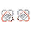 Love Knot Diamond Earrings In Two-Tone 10K Gold (1/10 Ct. Tw.)