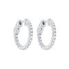In-Out Prong Set Diamond Hoop Earrings in 14K White Gold (1 ct. tw.)