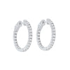 In-Out Prong Set Diamond Hoop Earrings in 14K White Gold  (1 1/2 ct. tw.)
