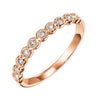 14K Rose Gold Stackable Bezel Diamond Band (1/8 ct. tw.)