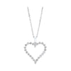 Diamond Open Heart Pendant Necklace In 14k White Gold (1/2ctw)