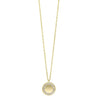 Diamond Eternity Halo Pendant Necklace In Yellow Gold (0.06ctw)