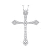 Diamond Celtic Cross Pendant Necklace In 14k White Gold (1/4 Ctw)