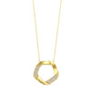 Interlocking Diamond Pendant In 14K Yellow Gold (1/6 Ct. Tw.)