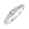 Three Stone Plus Diamond Ring in 14K White Gold (1/2 ct. tw)