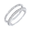 14K White Gold Inserts Prong Diamond Ring (1/10 ct. tw.)