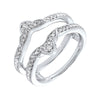 14K White Gold Inserts Prong Diamond Ring (1/5 ct. tw.)