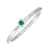 Emerald Birthstone Ring in 10K White Gold