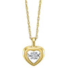 Gold Diamond Rhythm of Love Pendant