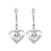Sterling Silver ROL Prong Alexandrite Earrings