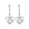 Sterling Silver ROL Prong White Topaz Earrings 3/500CT