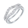 Prong Set Diamond Insert Ring in 14K White Gold (1/3 ct. tw.)