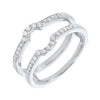 Prong Set Diamond Insert Ring in 14K White Gold (1/4 ct. tw.)