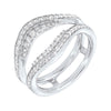 Prong Set Diamond Insert Ring in 14K White Gold (5/8 ct. tw.)