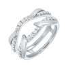 Prong Set Diamond Insert Ring in 14K White Gold (1/2 ct. tw.)