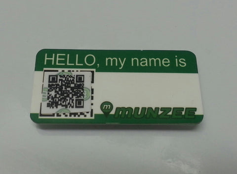 Personal Munzee Name Tag Magnetic