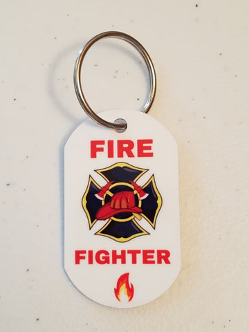 Fire Fighter - Personal Munzee Key Tag
