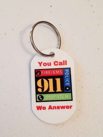 Personal Munzee Key Tag - 911 Dispatch