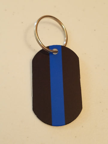 Personal Munzee Key Tag - Thin Blue Line