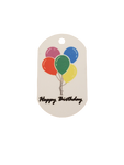 Happy Birthday - Personal Munzee Key Tag
