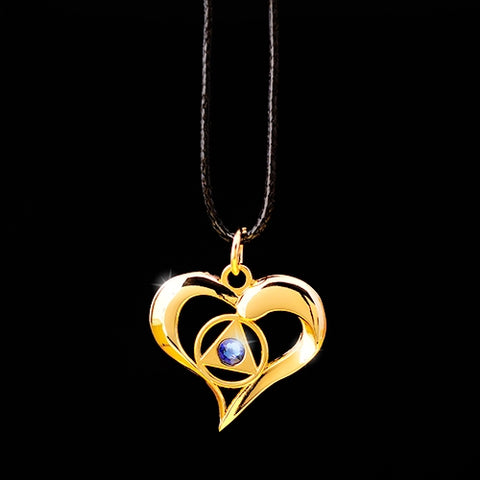 AA Flowing Heart Pendant - Blue