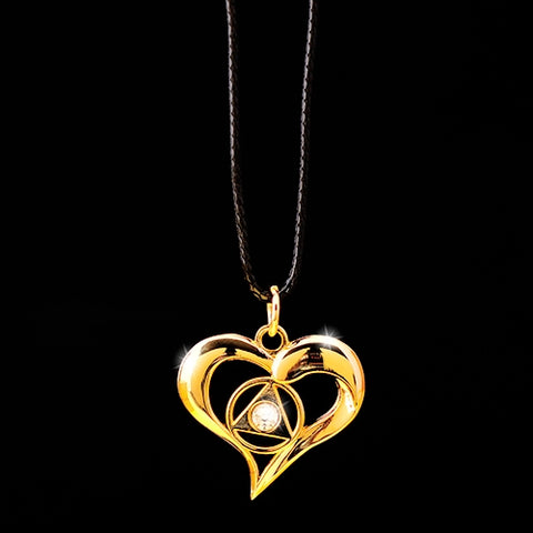 AA Flowing Heart Pendant - Crystal