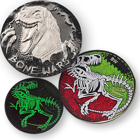 Bone Wars Geocoin - Black Nickel