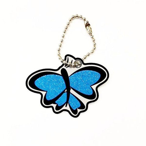 Butterfly Cachekinz Travel Tag - Glitter