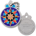 Micro Compass Rose Travel Tag