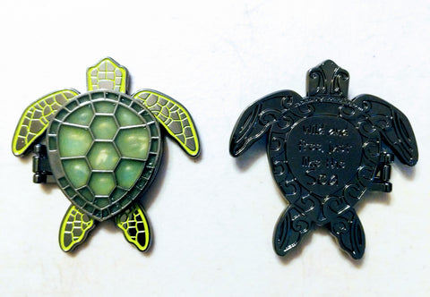 Turtle Locket Geocoin - Black Nickel
