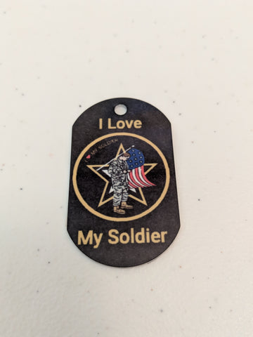 I Love My Soldier - Personal Munzee Tag