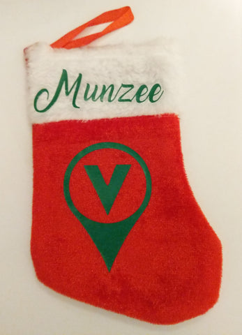 Munzee Stocking with Stickers