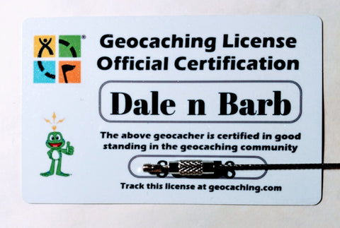 Geocaching License - Personalized