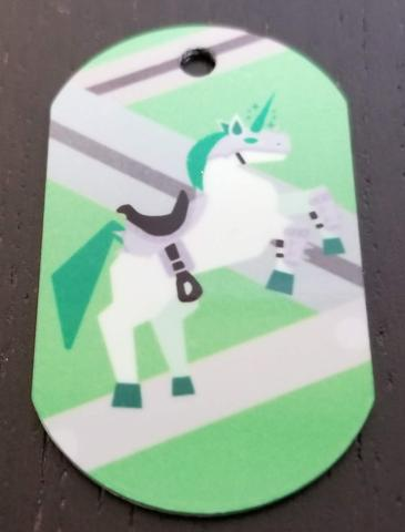Battle Unicorn Personal Munzee Tag