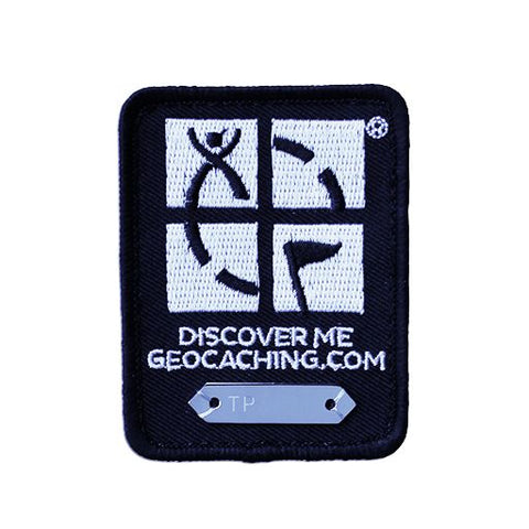 Geocaching Trackable Patch - Black