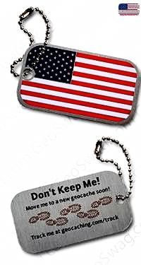 USA Flag Travel Tag