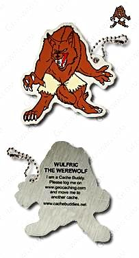 Wulfric the Werewolf Travel Tag