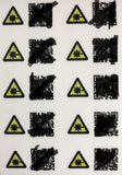 Urban Camo mini munzee sticker - 10 pack