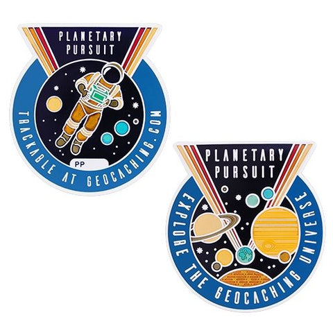 4305 Planetary Pursuit Geocoin with Companion Tag