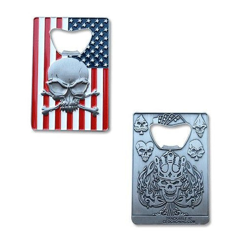 American Pride Bottle Opener Geocoin- AS