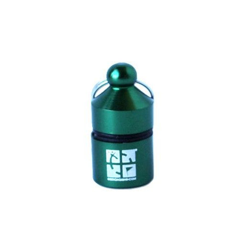 Hanging Nano Geocache with logo Green