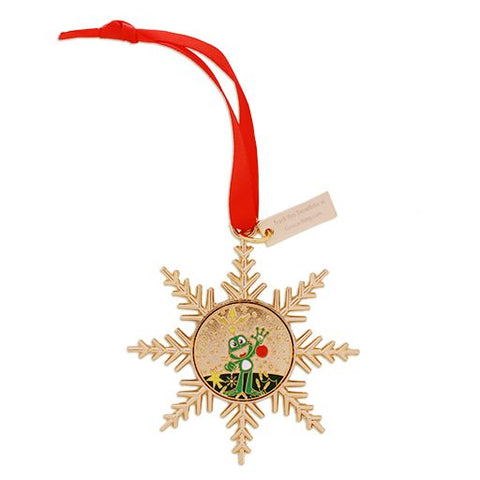 Gold Signal the Frog® Ornament Geocoin- Signal Decorating