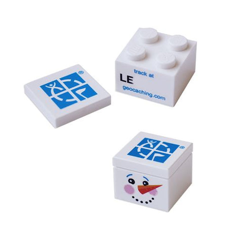 Trackable Snowman Brick- 2 x 2
