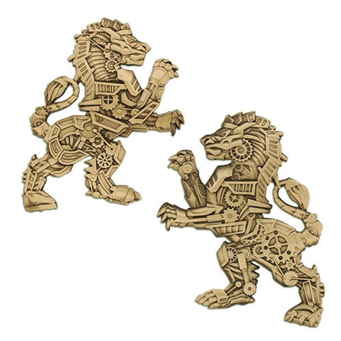 Steampunk Predators- Lion Geocoin