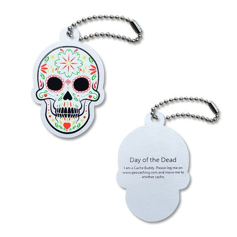 Day of the Dead Sugar Skull Travel Tag