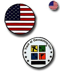 USA Flag Micro Geocoin