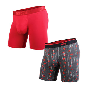 2 Pack Classics Boxer Brief - Crimson/Celepaint
