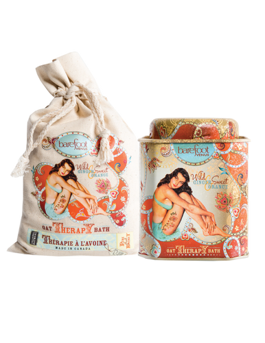 Wild Ginger & Sweet Orange Oat Therapy Bath - Tin OR Refill Bag