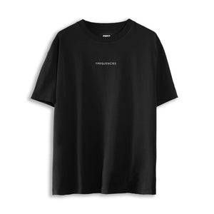 EMBROIDERED STEREO TEE - BLACK